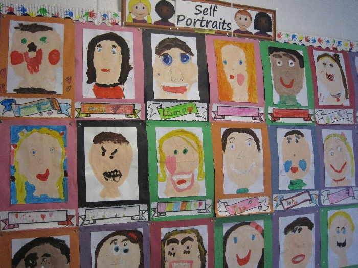 Slide image of Self portraits from Room 7